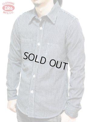 画像1: 【 UES(ウエス) 】 オリジナルヒッコリーストライプワークシャツ 再入荷!