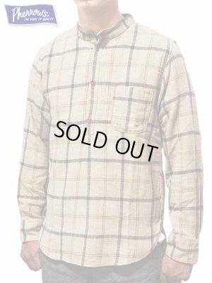 画像1: 【 Pherrow's(フェローズ) 】 バンドカラープルオーバーワークシャツ [ Band Coller Pullover Work Shirts ] [ BEIGE ]