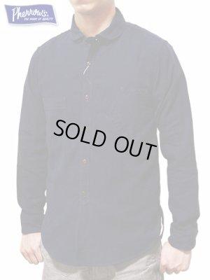 画像1: 【 Pherrow's(フェローズ) 】 ラウンドカラーワークシャツ [NAVY]