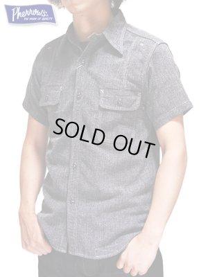 画像1: 【 Pherrow's(フェローズ) 】 ラウンドヨークワークシャツ [ COOLMAX ] [ カタログ未掲載モデル ]