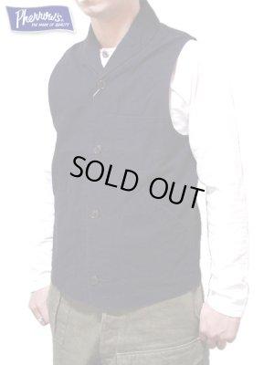 画像1: 【 Pherrow's(フェローズ) 】 ショールカラーワークベスト [ Shawl Collar Work Vest ]
