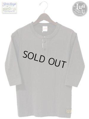 画像2: 【 LUA×FREE RAGE 】 別注14/-BD天竺ヘンリーネック七分袖Tシャツ [ 10周年記念プリント ]