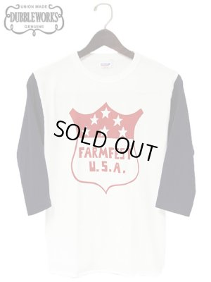 画像1: 【 DUBBLEWORKS(ダブルワークス) 】 3/4 SLEEVE BASEBALL TEE [ FARMFEST ]