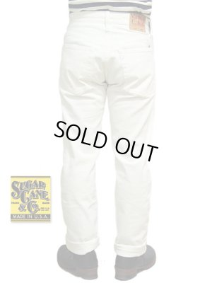 画像1: 【 SUGAR CANE(シュガーケン) 】 WHITE DENIM STAR JEANS BUTTON FLY [ Made in U.S.A. ] 再入荷!