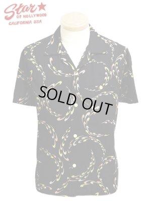 画像1: 【 STAR OF HOLLYWOOD(スターオブハリウッド) 】 半袖オープンカラーシャツ [ BOOMERANG ]