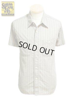 画像1: 【 SUGAR CANE(シュガーケン) 】 半袖ドビーストライプワークシャツ