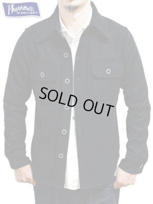画像1: 【 Pherrow's(フェローズ) 】 ウールCPOシャツジャケット [ NAVY ] 再入荷!