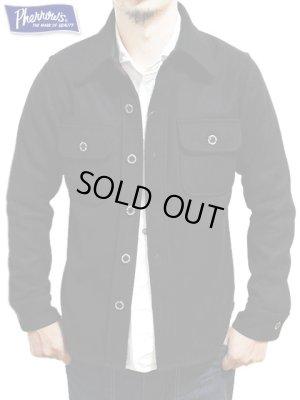 画像1: 【 Pherrow's(フェローズ) 】 ウールCPOシャツジャケット [ BLACK ] 再入荷!
