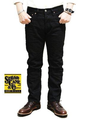 画像1: 【 SUGAR CANE(シュガーケン) 】 【 13oz. 】 ブラックジーンズ スリムフィットストレート [ BLACK DENIM TYPE-III SLIM FIT ] 再入荷!
