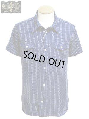 画像1: 【 ORGUEIL(オルゲイユ) 】 半袖インディゴ刺し子ストライプワークシャツ [ Short Sleeve Work Shirt ] 再入荷!