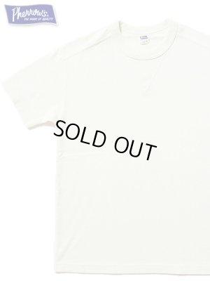 画像1: 【 Pherrow's(フェローズ) 】 半袖度詰め天竺Vガゼット付きTシャツ [ OATMEAL ]