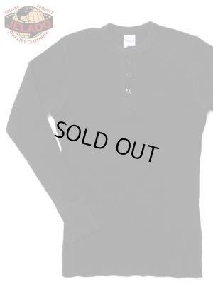 画像1: 【 JELADO(ジェラード) 】 10/- MEGA メガサーマルヘンリーネックTシャツ [ ATHLETIC BRAND ] [ BLACK ]