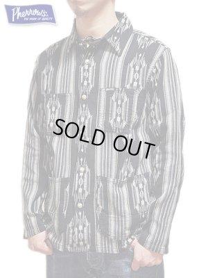 画像1: 【 Pherrow's(フェローズ) 】  ネイティブジャガードシャツジャケット [ Native  Jacquard Shirts Jacket ]