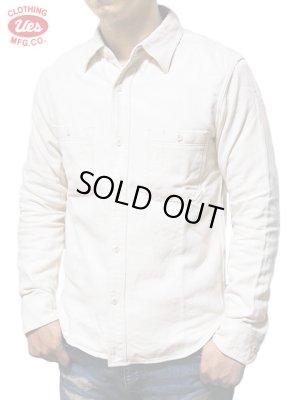 画像1: 【 UES(ウエス) 】 無地ネルシャツ [ WHITE ]