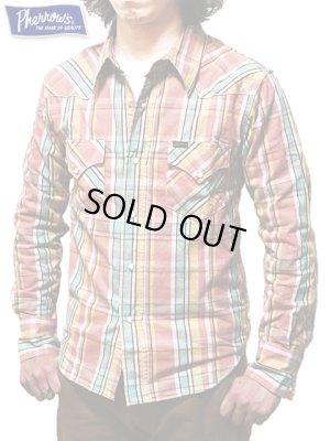 画像1: 【 Pherrow's(フェローズ) 】 チェックウエスタンシャツ [ Check Western Shirts ] [ PINK ]