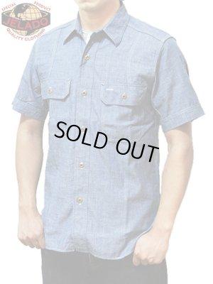 画像1: 【 JELADO(ジェラード) 】 半袖インディゴシャンブレーワークシャツ [ Ventilation Work Shirts ]