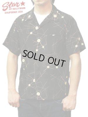 画像1: 【 STAR OF HOLLYWOOD(スターオブハリウッド) 】 半袖レーヨンオープンカラーシャツ S/S HIGH DENSITY RAYON OPEN SHIRTS [ ATOMIC SPIDER WEB ]