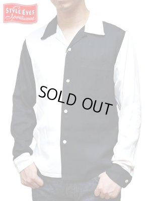 画像1: 【 STYLE EYES(スタイルアイズ) 】 レーヨンオープンカラーシャツ [ TWO-TONE ]