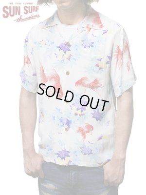 画像1: 【 SUN SURF(サンサーフ) 】 半袖アロハシャツ S/S HAWAIIAN SHIRT [ JAPANESE MAPLE AND FANTAIL ] [ OFF WHITE ]
