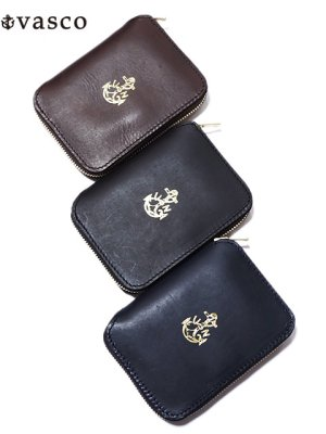 画像1: 【 vasco(ヴァスコ) 】 Leather Naval Round Zip Middle Wallet [ ITALIAN OIL LEATHER ]