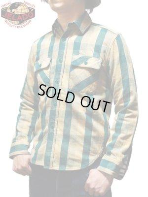 """画像1: 【 JELADO(ジェラード) 】 ヘビーチェックネルシャツ [ ショート丈 ] """"Unionworkers Shirts"""" [ ピーナッツ]"""